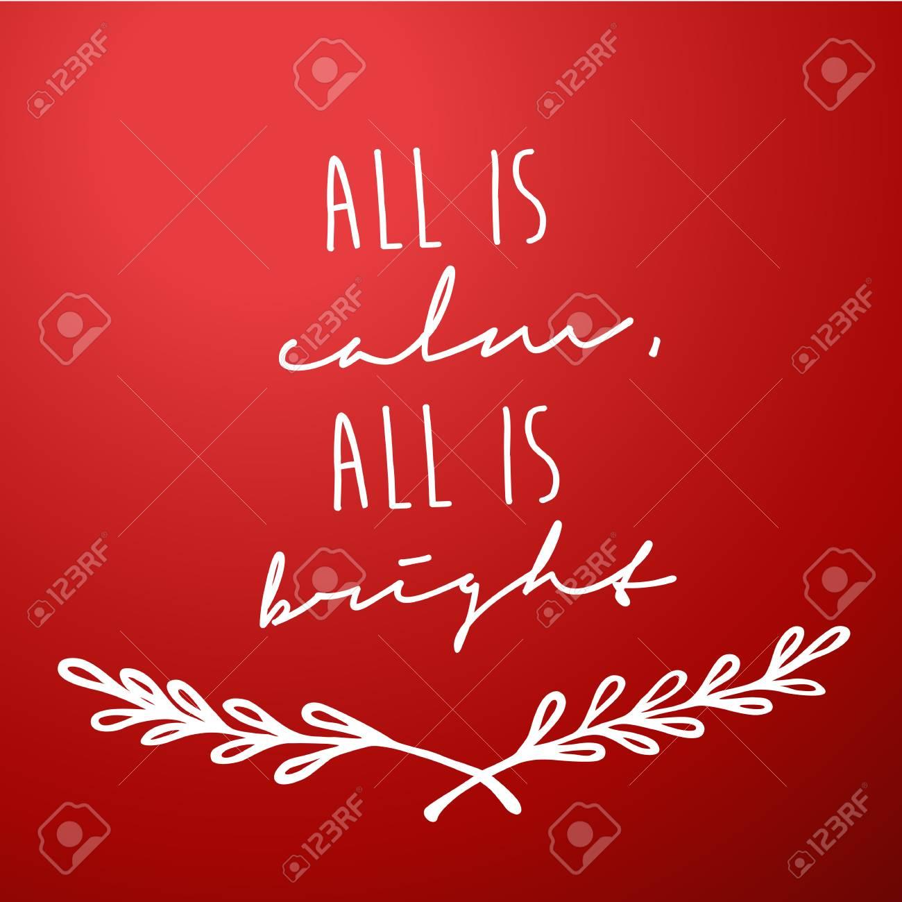 Vettoriale Sfondo Rosso Con Auguri Di Natale Tutto è Calma