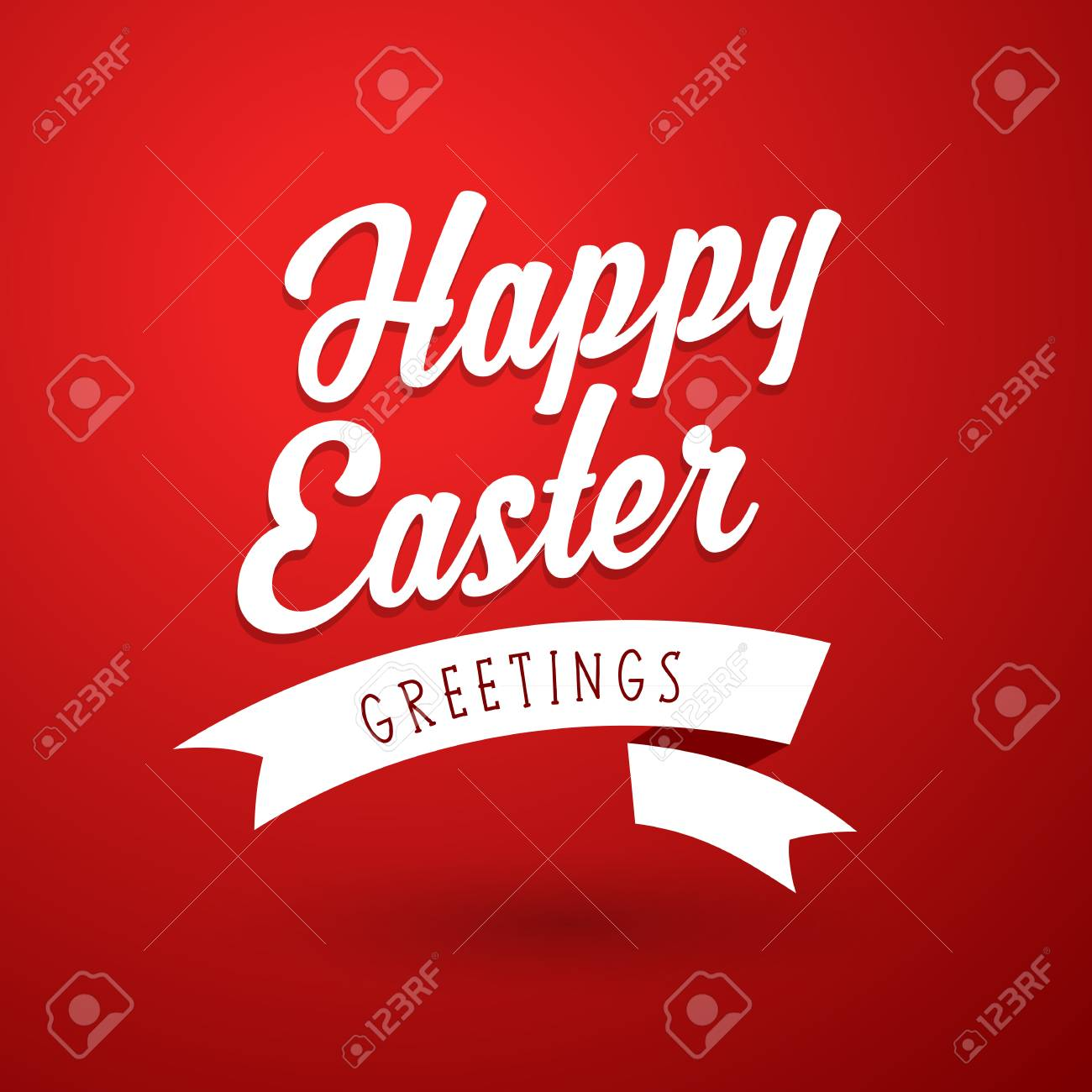 Happy Easter Holiday Greeting Card Template Royalty Free Cliparts