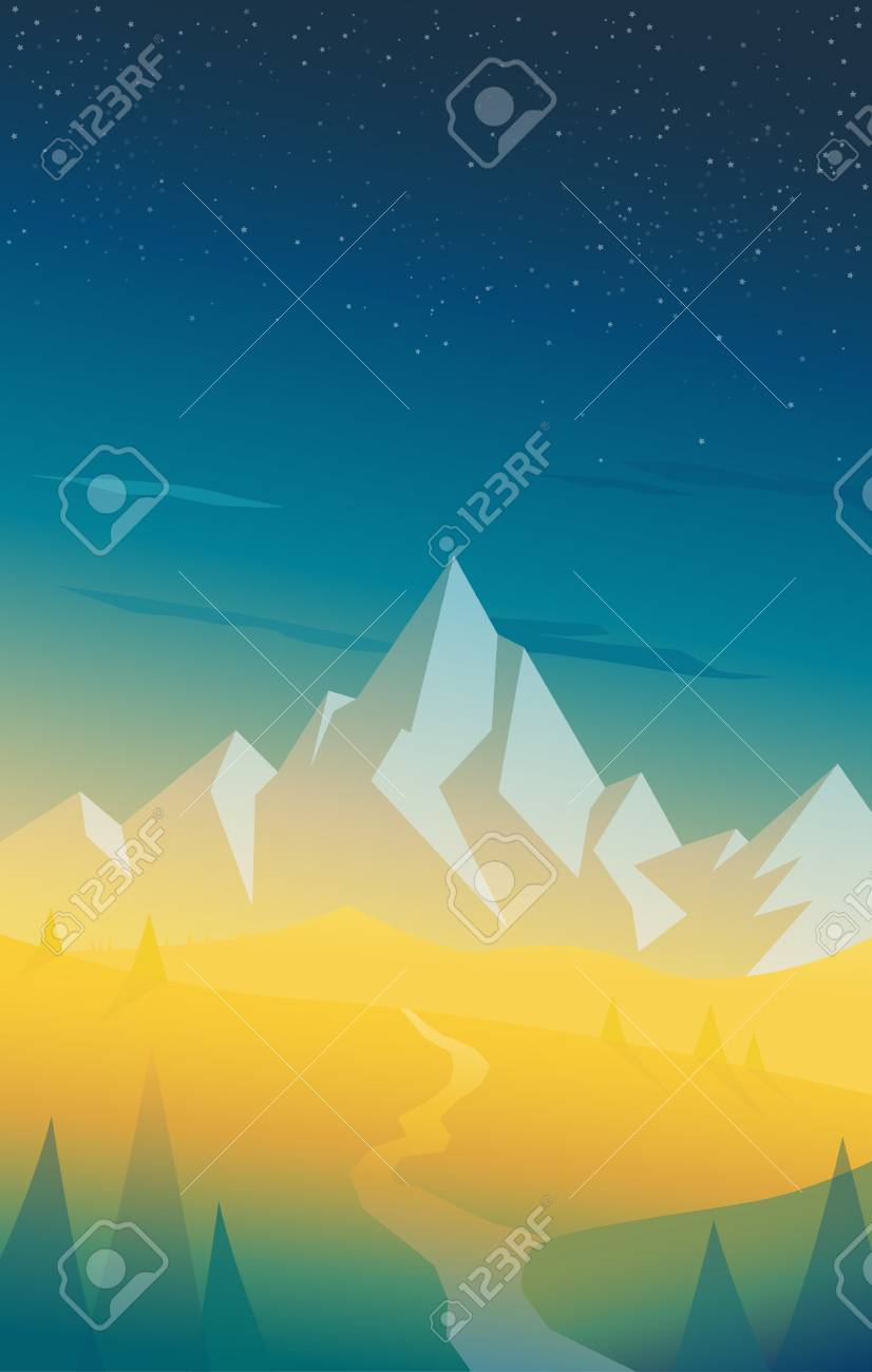 Popular Wallpaper Mobile Scenery - 87948623-summer-mountain-scenery-with-pine-trees-river-and-hills-at-the-back-vertical-version-wallpaper-for-m  Gallery_885157.jpg