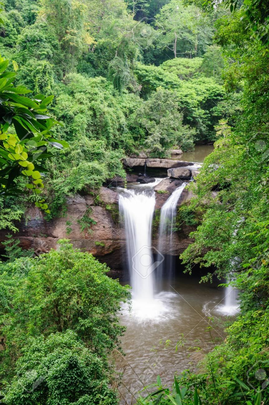 water fall in Khaoyai National Park, Thailand Stock Photo - 16457925
