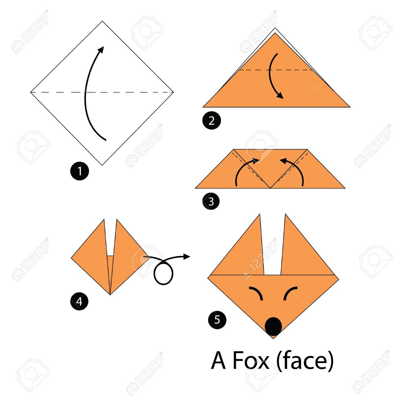 origami zorro paso a paso