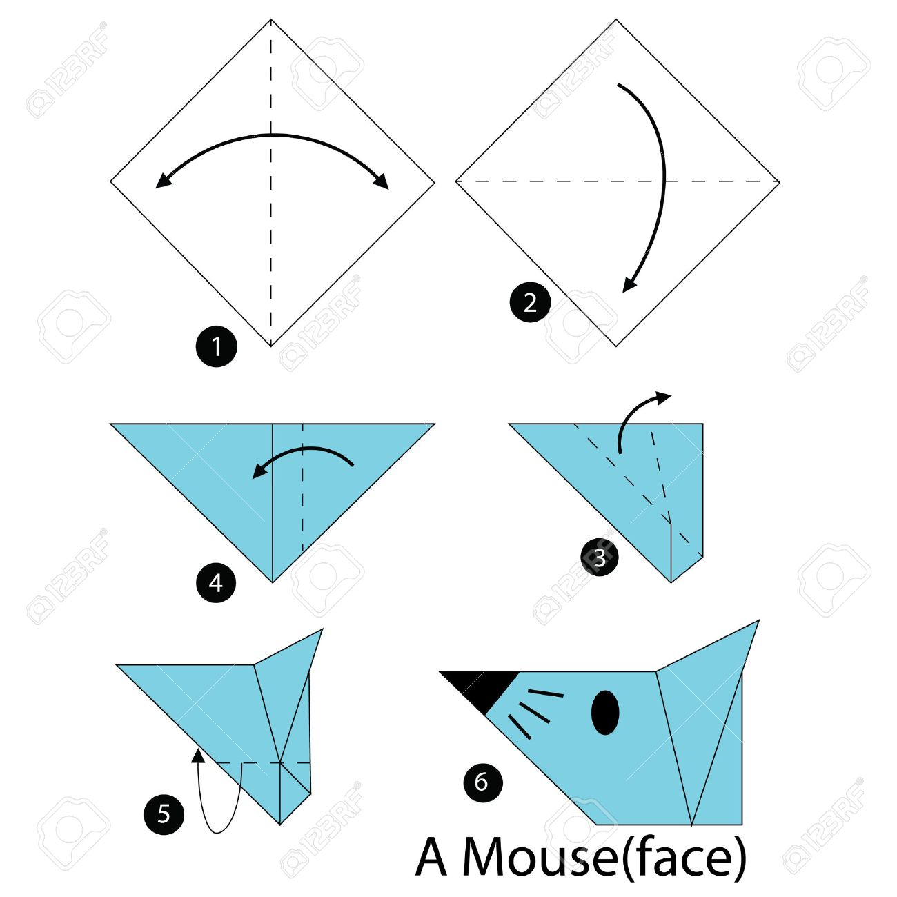 Easy Origami Mouse Diagram Steps - DIY Enthusiasts Wiring Diagrams •