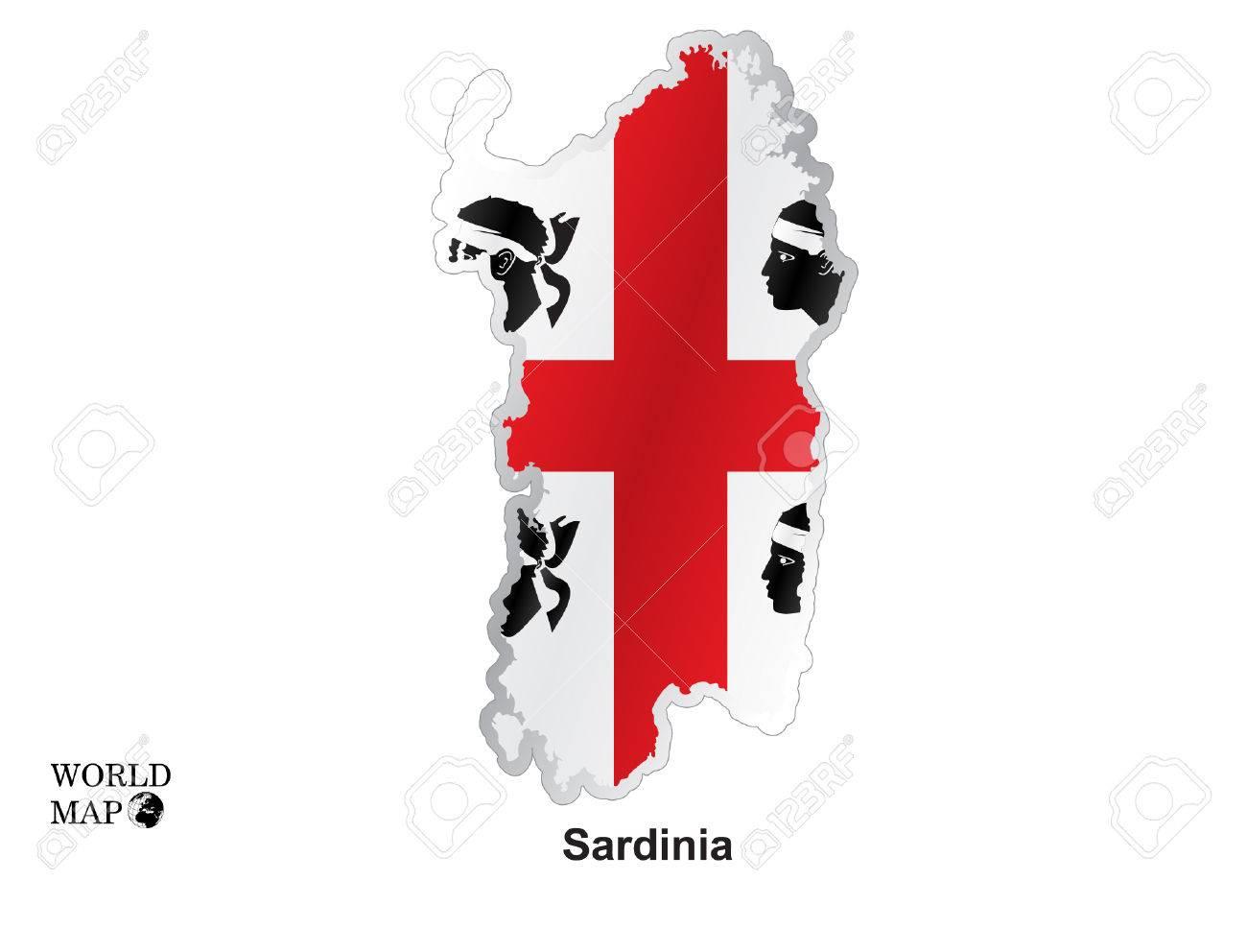 Map Sardinia. - 47190710