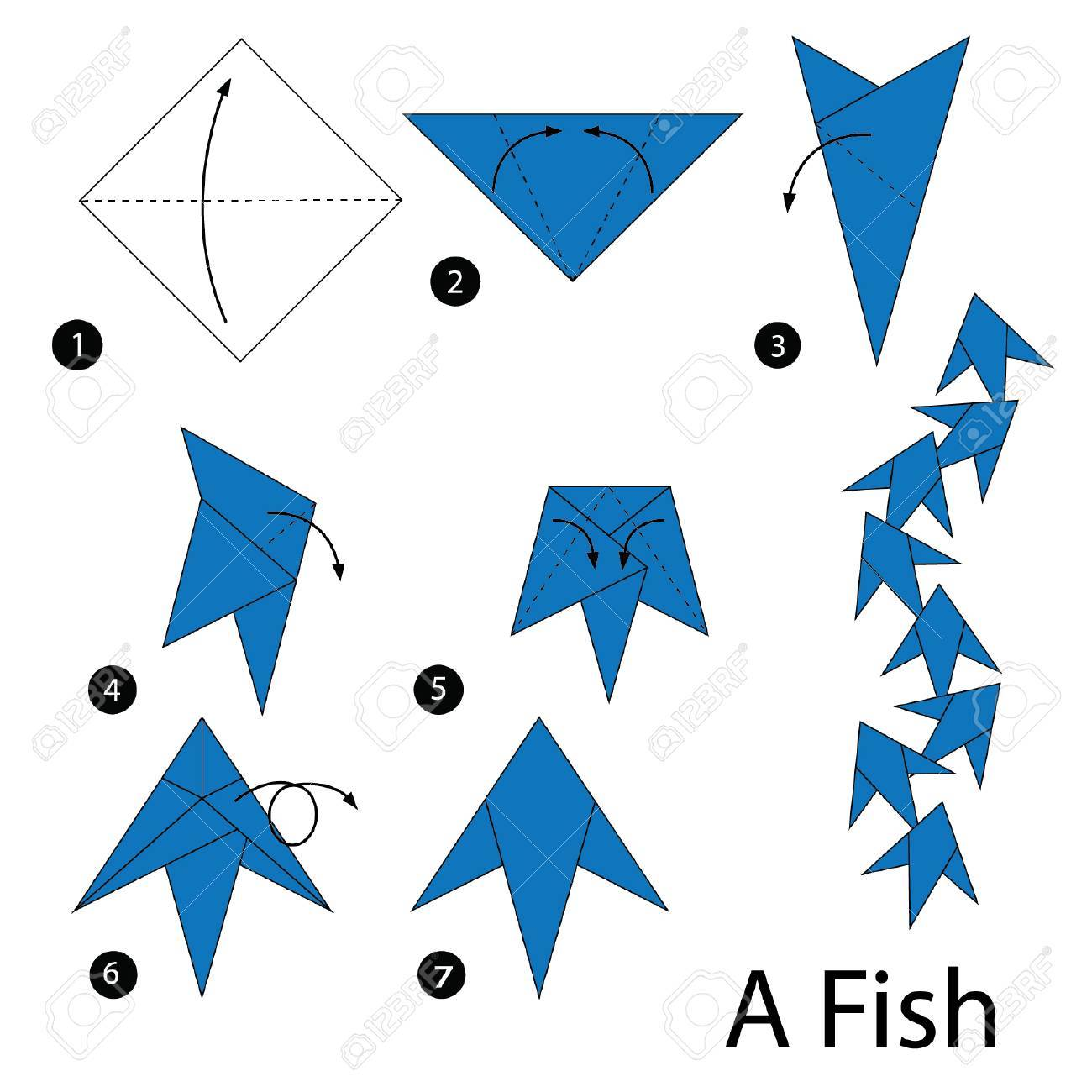 How to make a Paper Fish: Easy Origami Fish Instructions & Diagram | 1300x1300