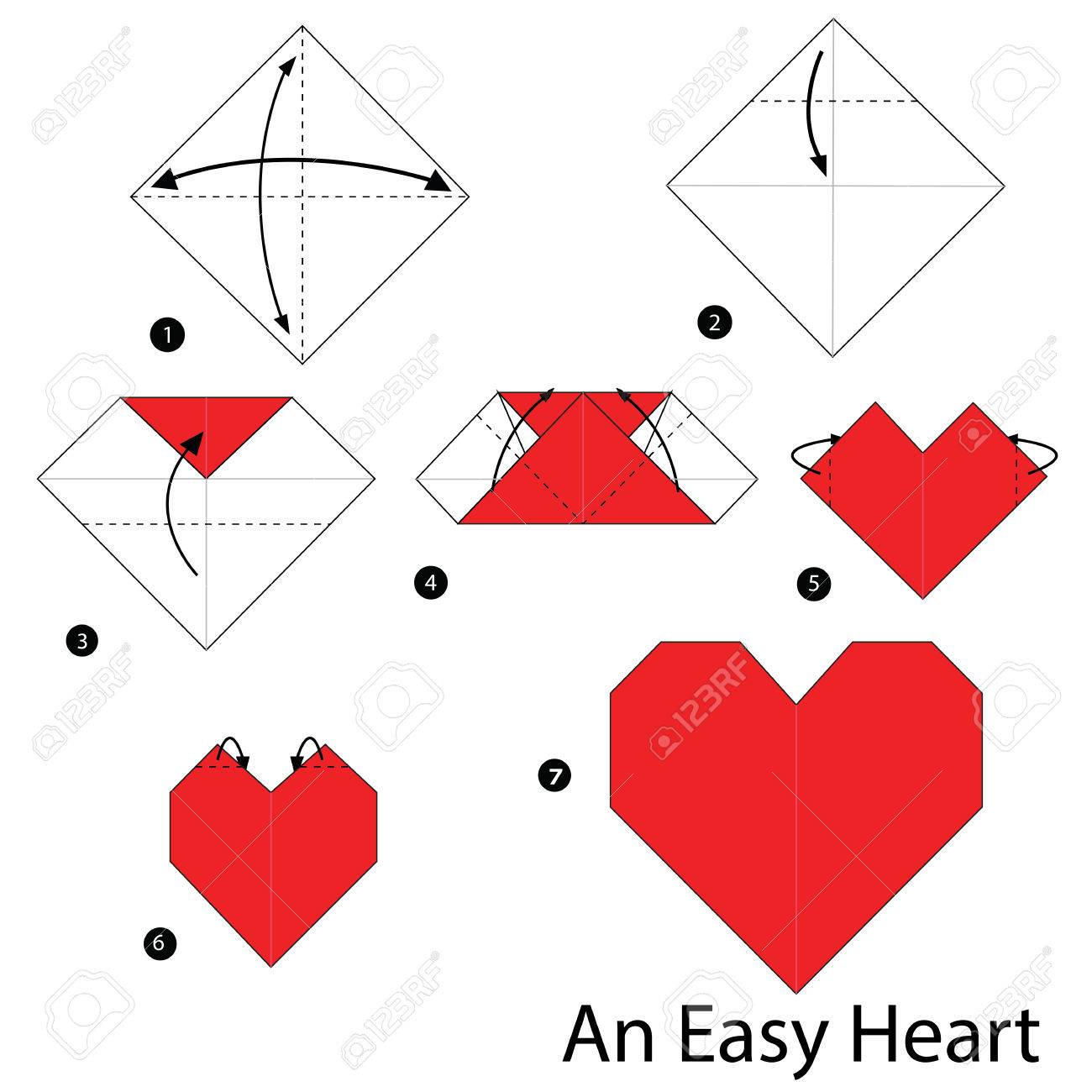 Instrucciones Paso A Paso Como Hacer Origami Un Corazon Facil - Origami-corazn
