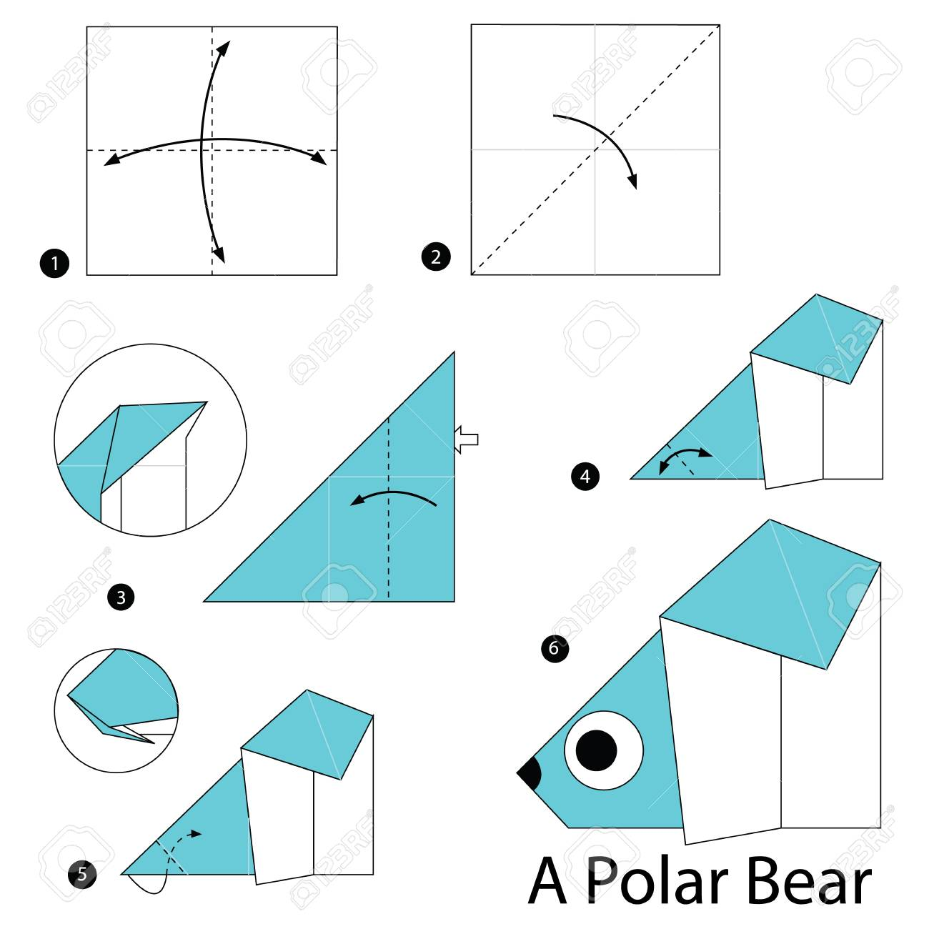 Phenomenal Step By Step Instructions How To Make Origami A Polar Bear Royalty Wiring 101 Olytiaxxcnl