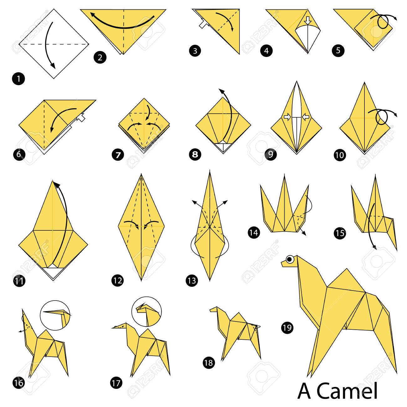 Easy Origami Paper Crafts For Kids (Step By Step Instructions ... | 1300x1300