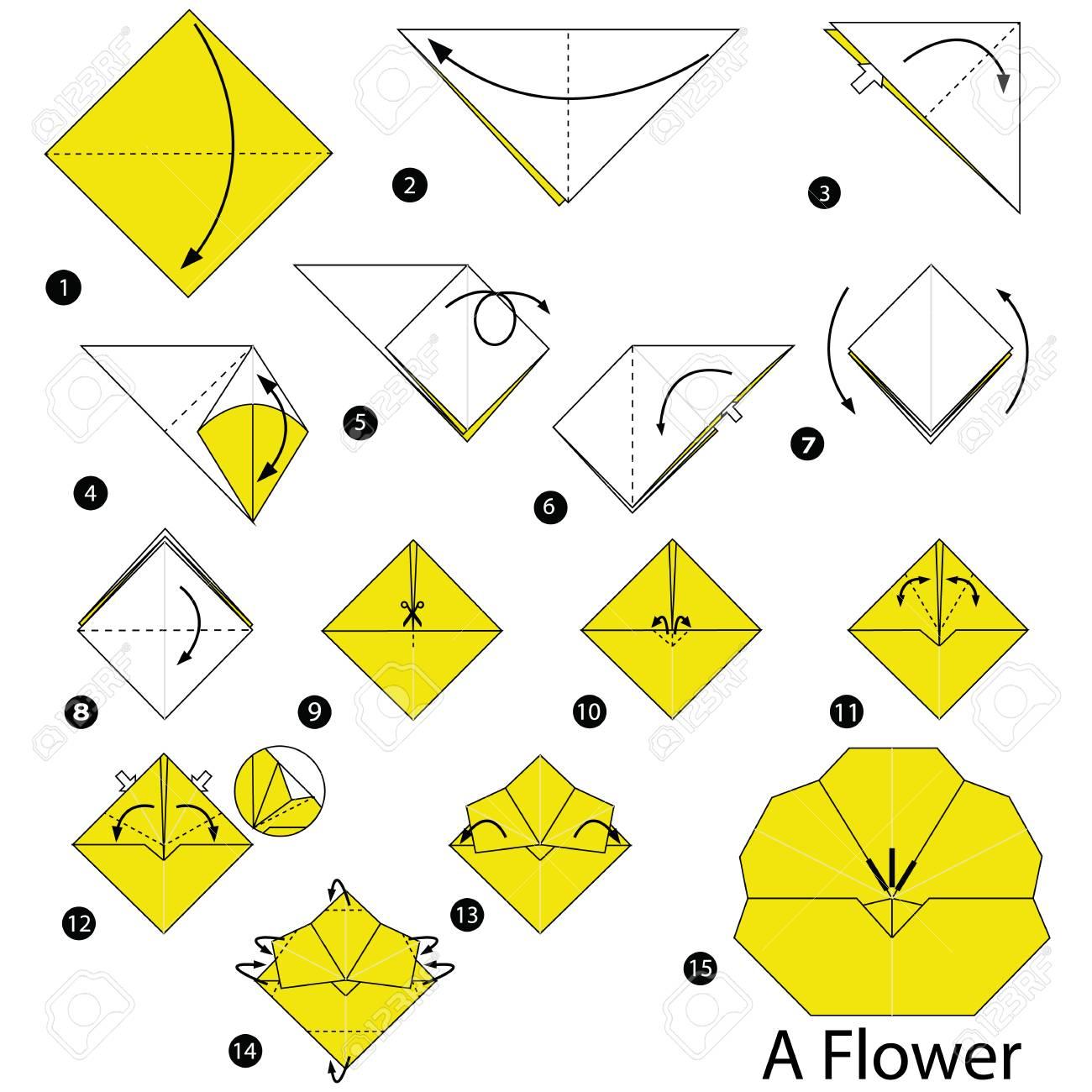 Instrucciones Paso A Paso Cómo Hacer Papiroflexia Una Flor