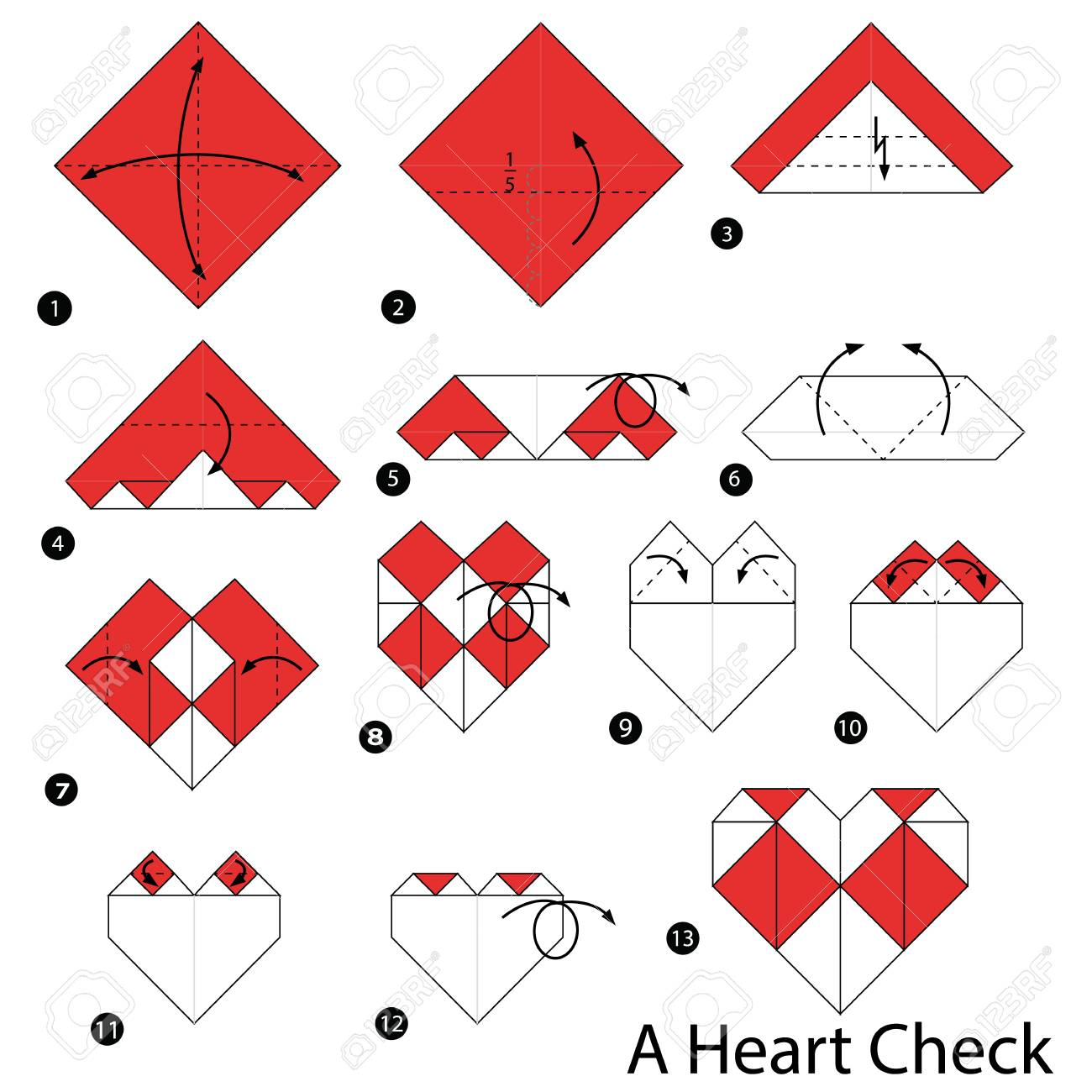 How to make an origami heart | 1300x1300