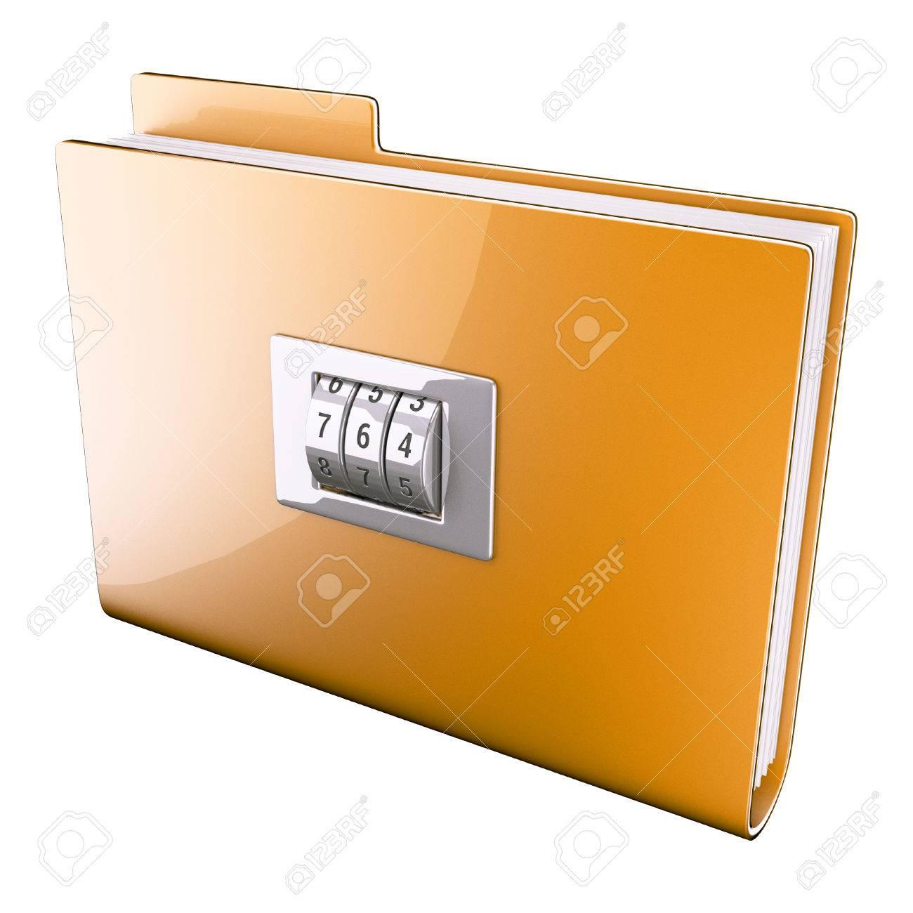 Yellow folder closed on cipher - 30559352