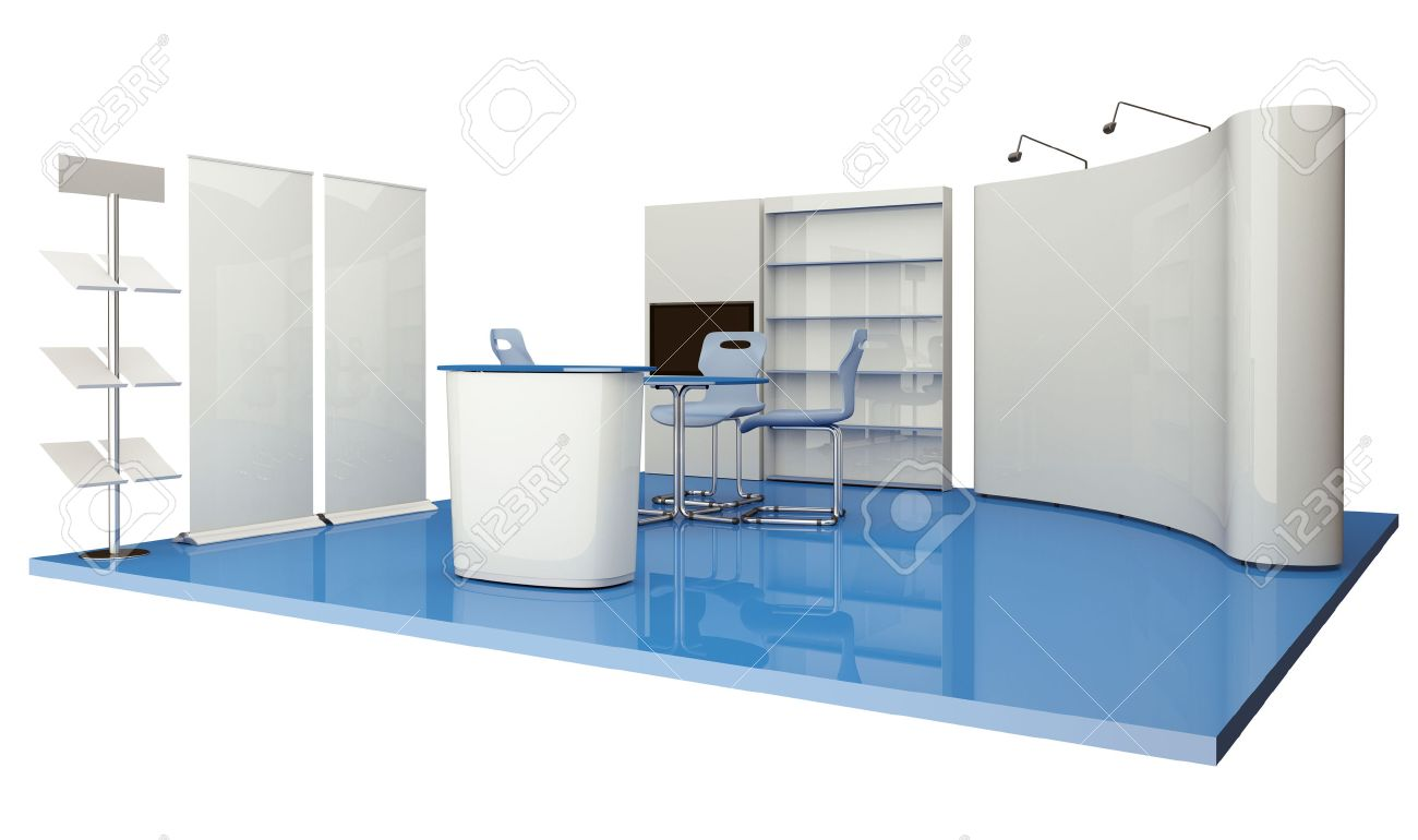 Advertising elements exhibition stand - 30559748