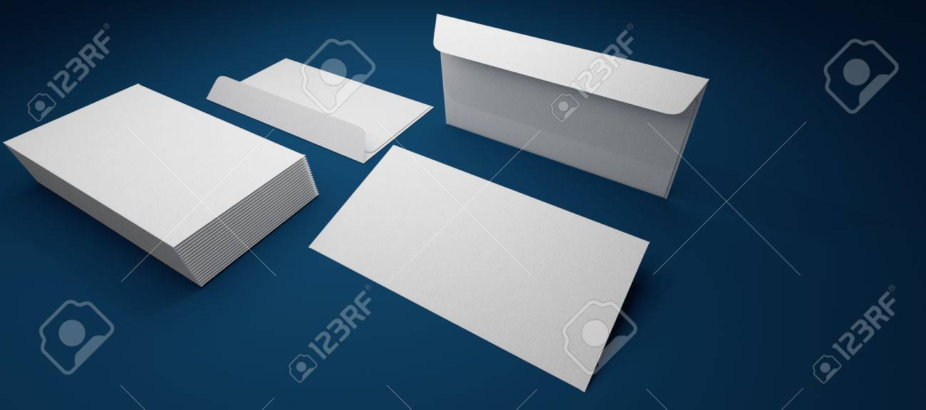 envelope template laid on a blue background - 34578753