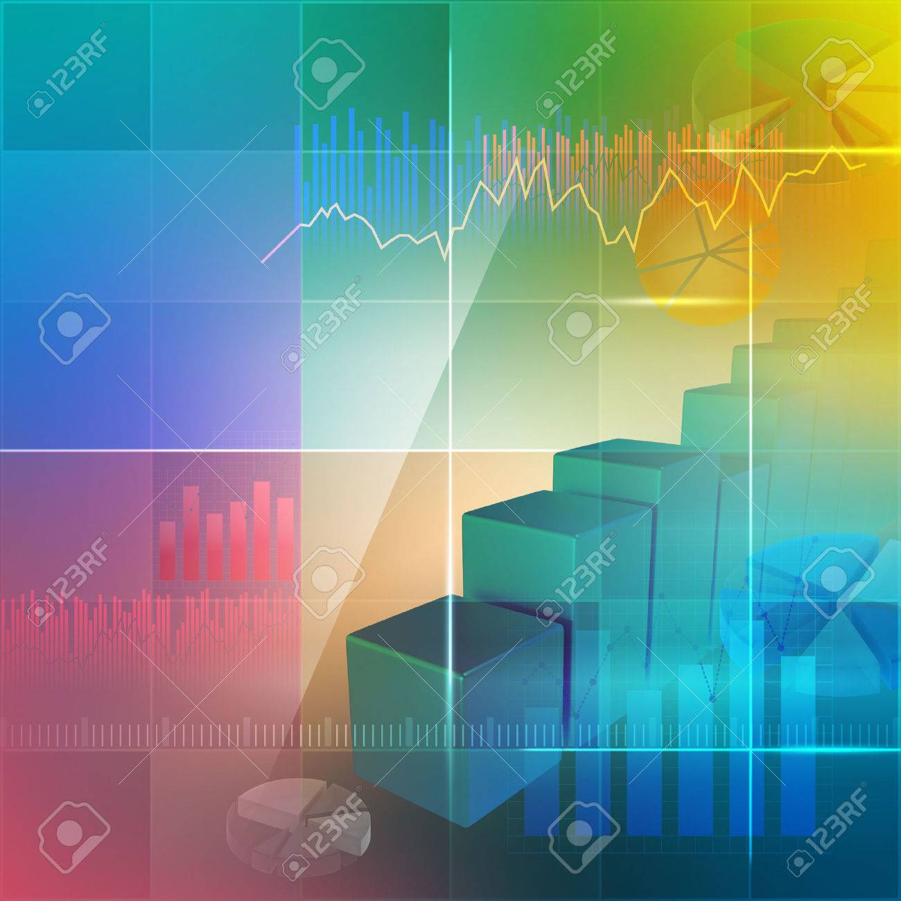 Colorful background for illustrating business - 35654011