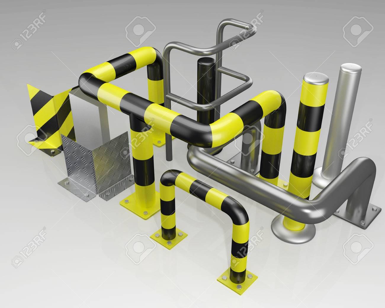metal corner protectors and protective bars - 53633257