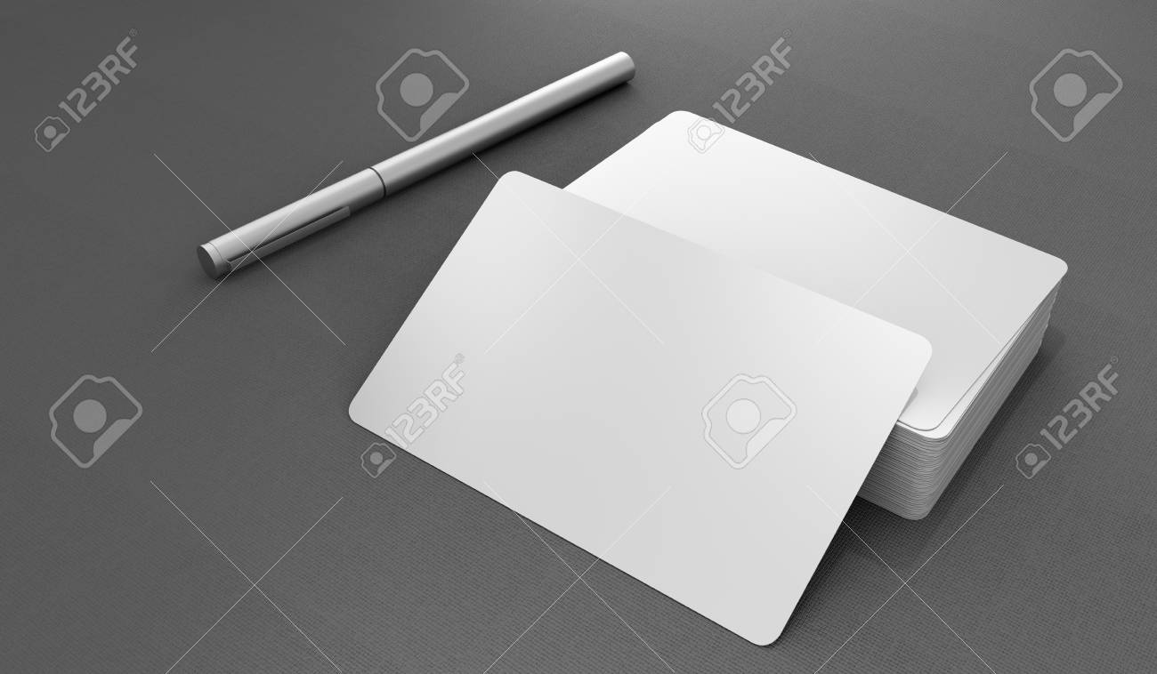 Professional blank template business card - 120120807
