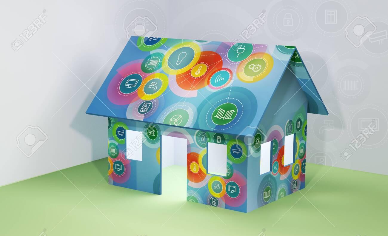 illustrations smart home icon - 120120808