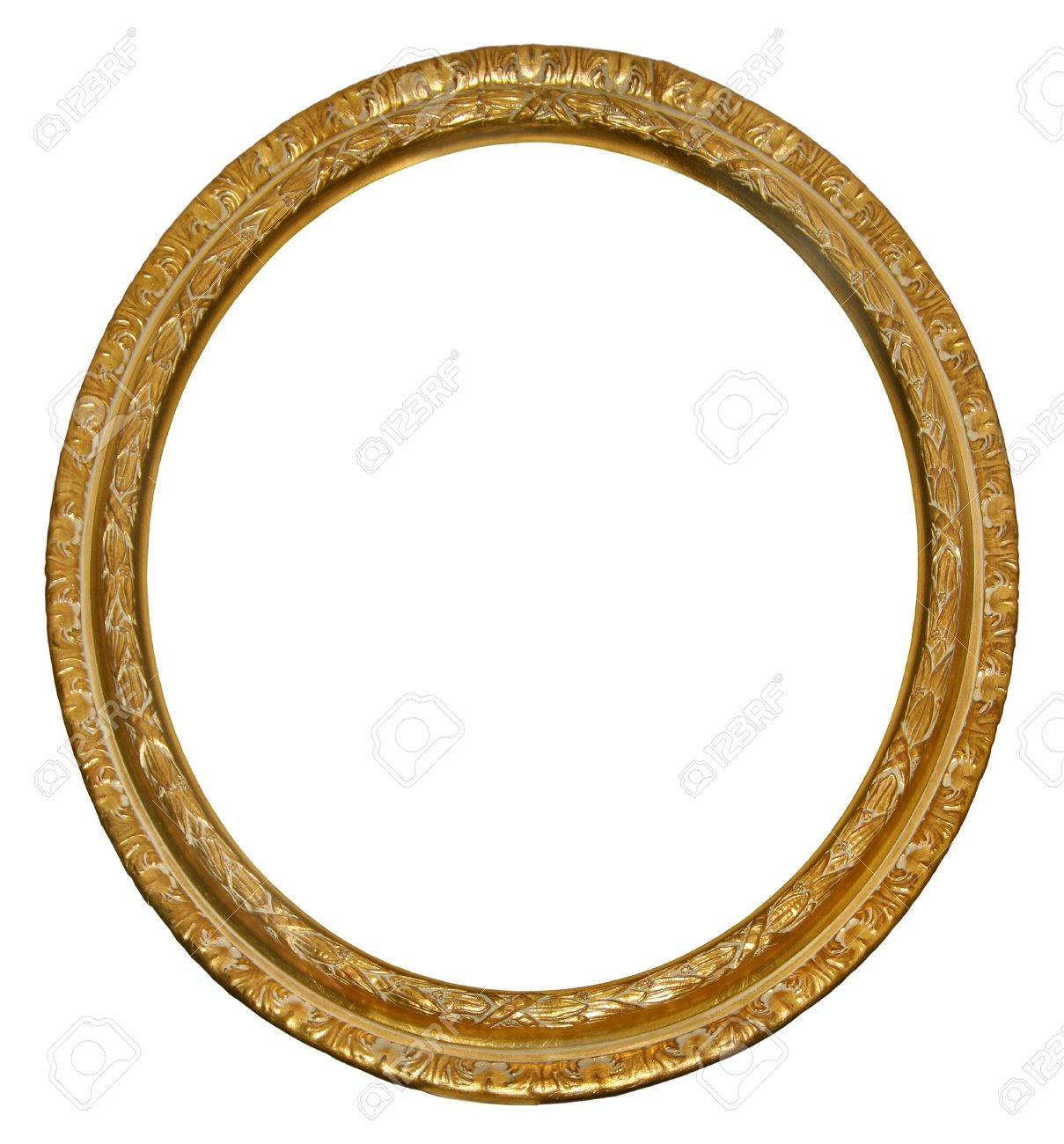 Picture Gold Oval Frame Stock Photo, Picture And Royalty Free Image ...