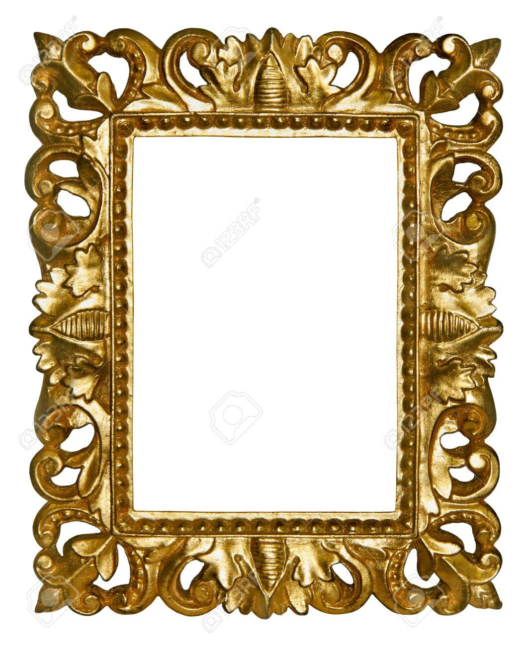 Gold Bilderrahmen Mit Schönen Schnitzereien Lizenzfreie Fotos ...