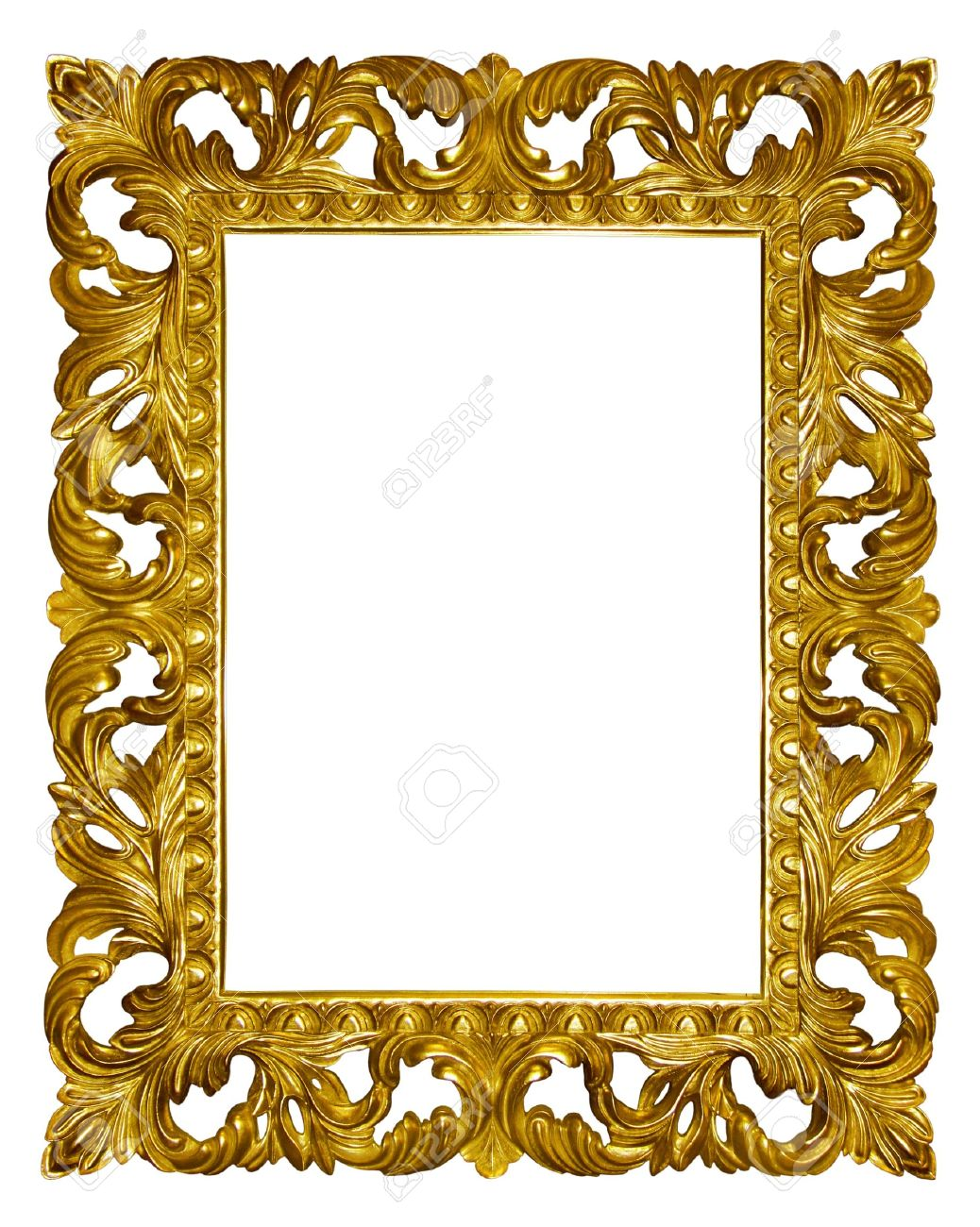 Picture Gold Frame With Beautiful Carving Stock Photo, Picture And ...