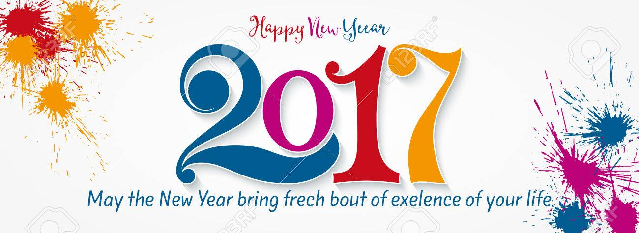 Happy New Year 2017 Year 2017 Vector Design Element New Year