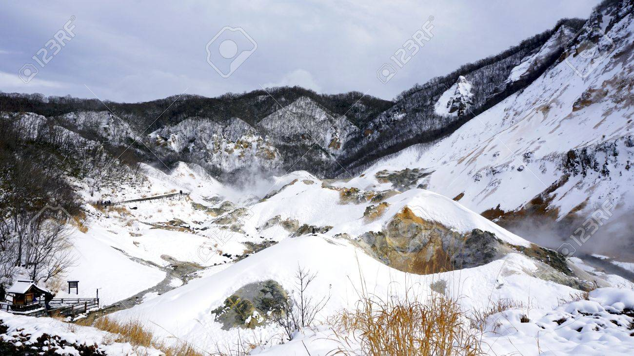 Snow valley in japan