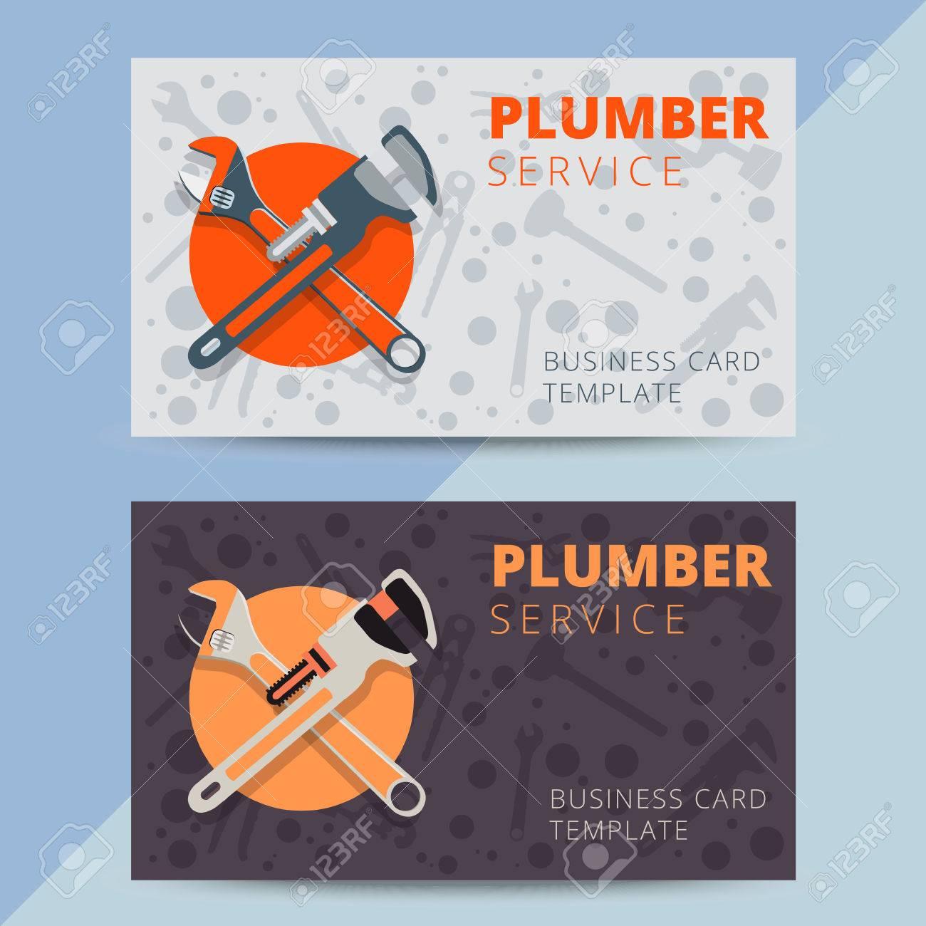 Ensemble De Services Plomberie Modles Cartes Visite