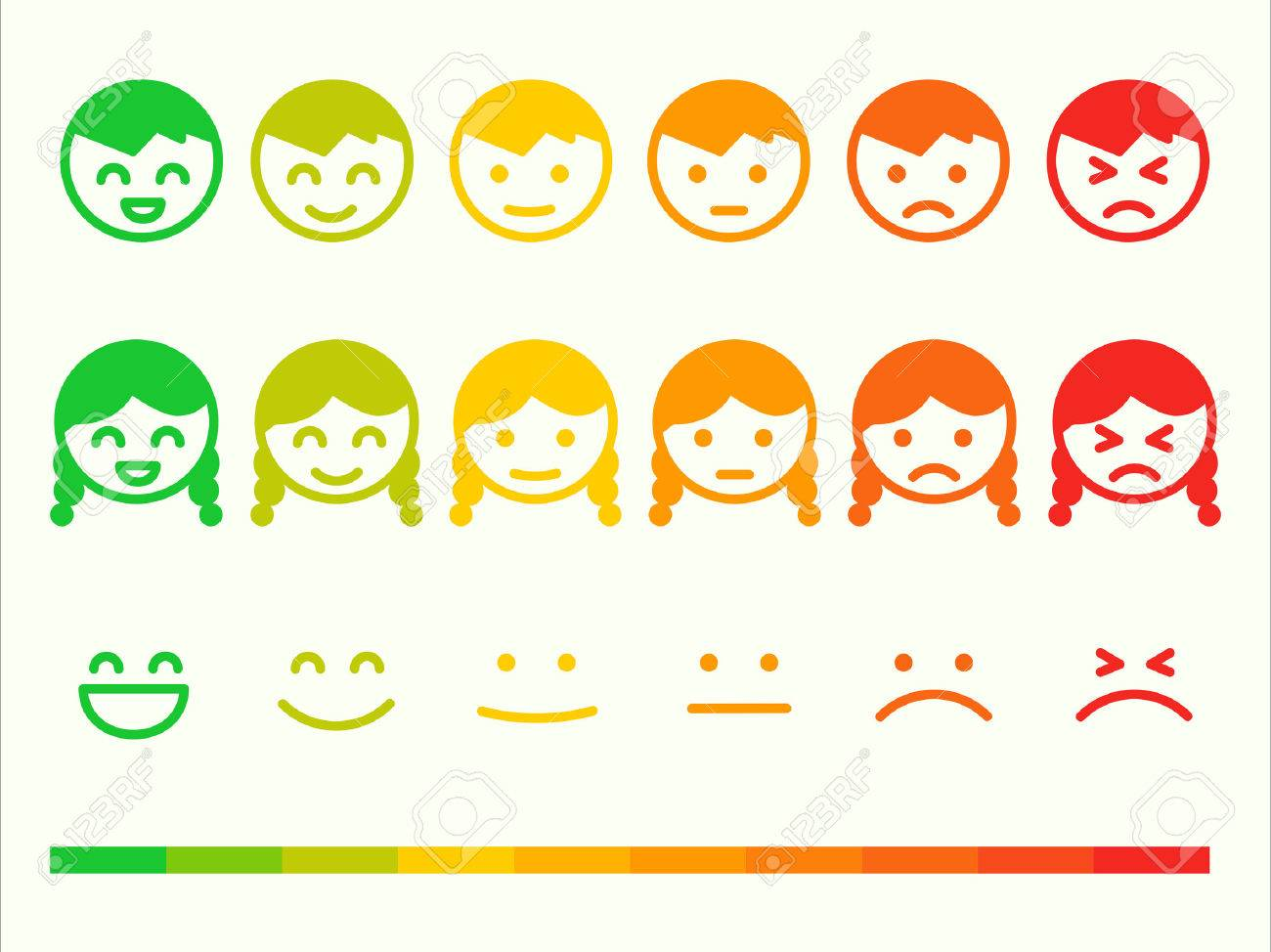 Feedback rate emoticon icon set emotion smile ranking bar vector feedback rate emoticon icon set emotion smile ranking bar vector smiley face customer or biocorpaavc Images