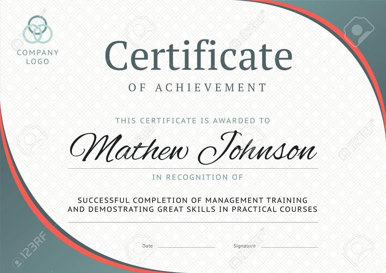 Certificado De Diseño De La Plantilla Logro. Diseño Diploma De ...