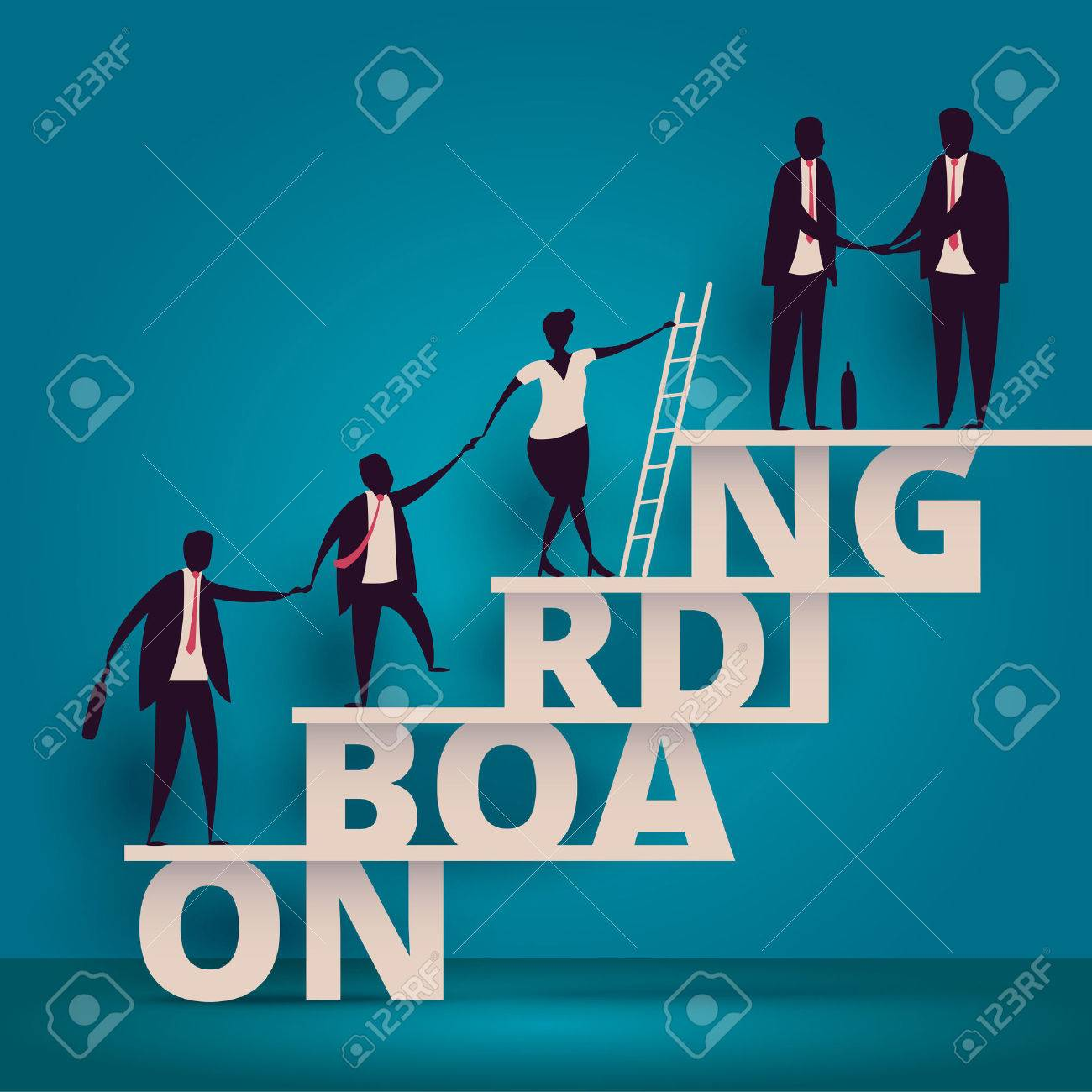 Business onboarding concept. HR manager hiring employee or workers for job. Recruiting staff or personnel in company. - 74637177