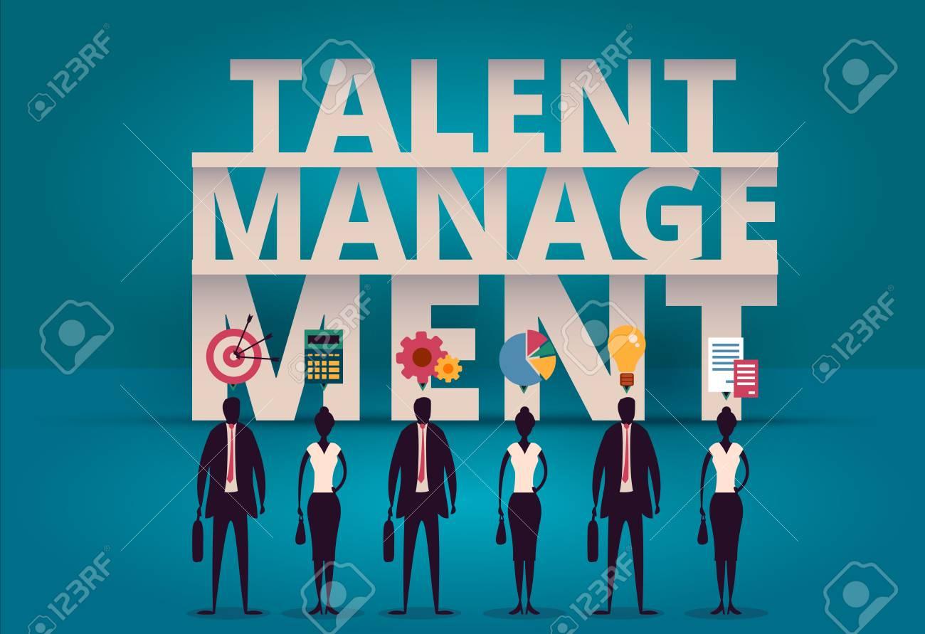 Business talent management concept  HR manager hiring employee