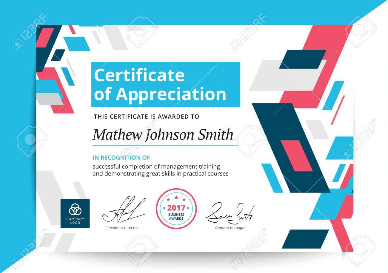 graduation certificate of appreciation