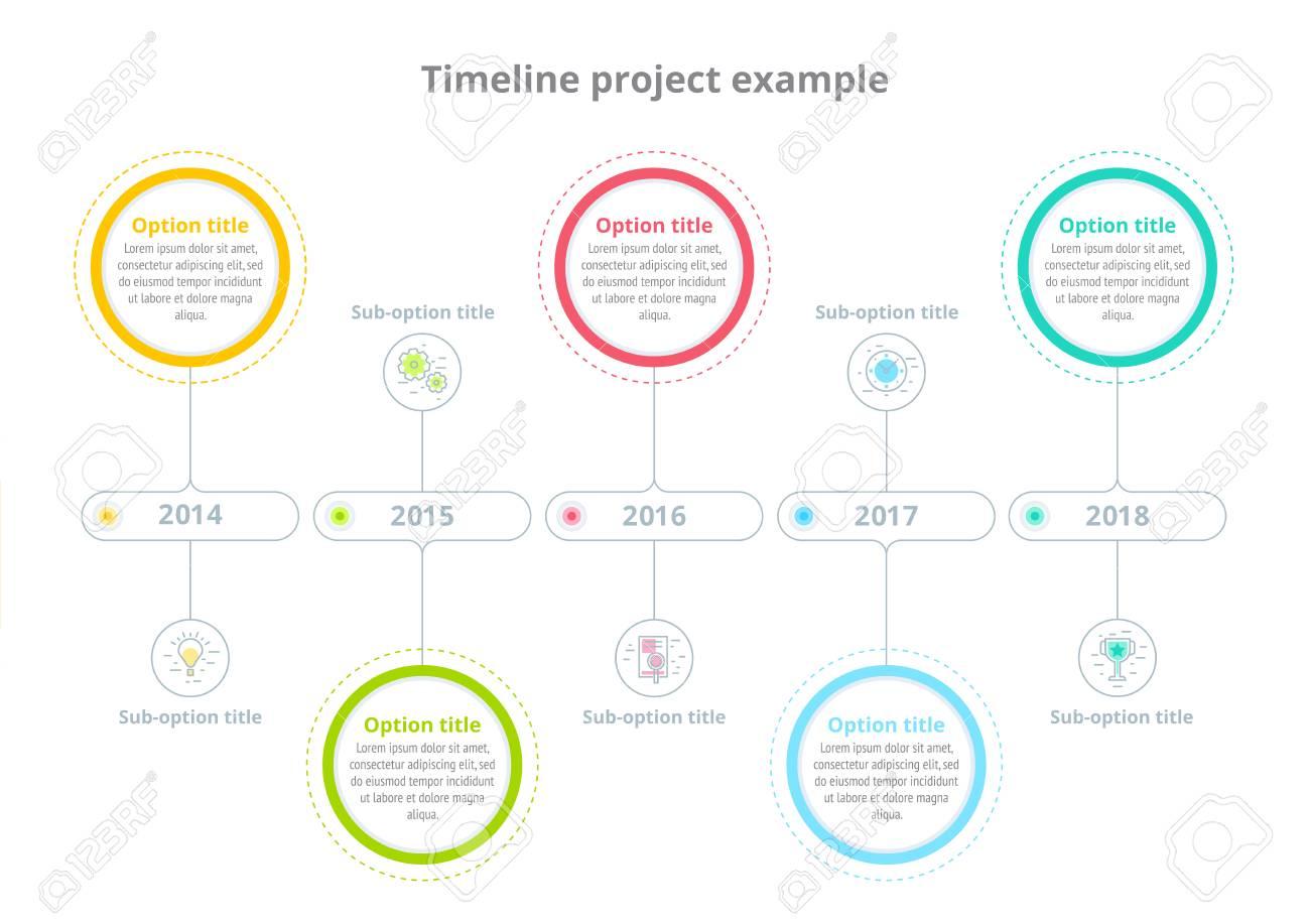 Infografia De La Carta De Proceso Empresarial Con Circulos
