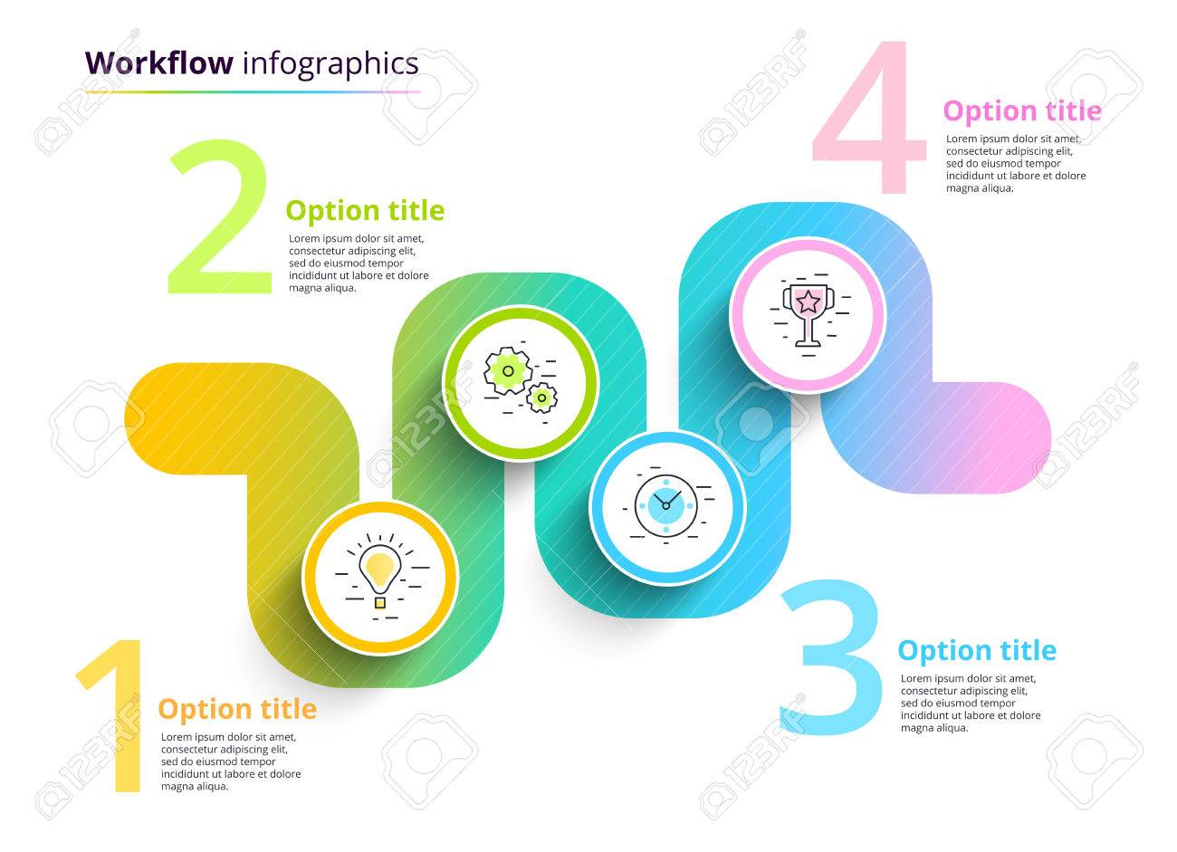 Business process chart infographics with 4 step circles circular business process chart infographics with 4 step circles circular corporate workflow graphic elements company nvjuhfo Choice Image