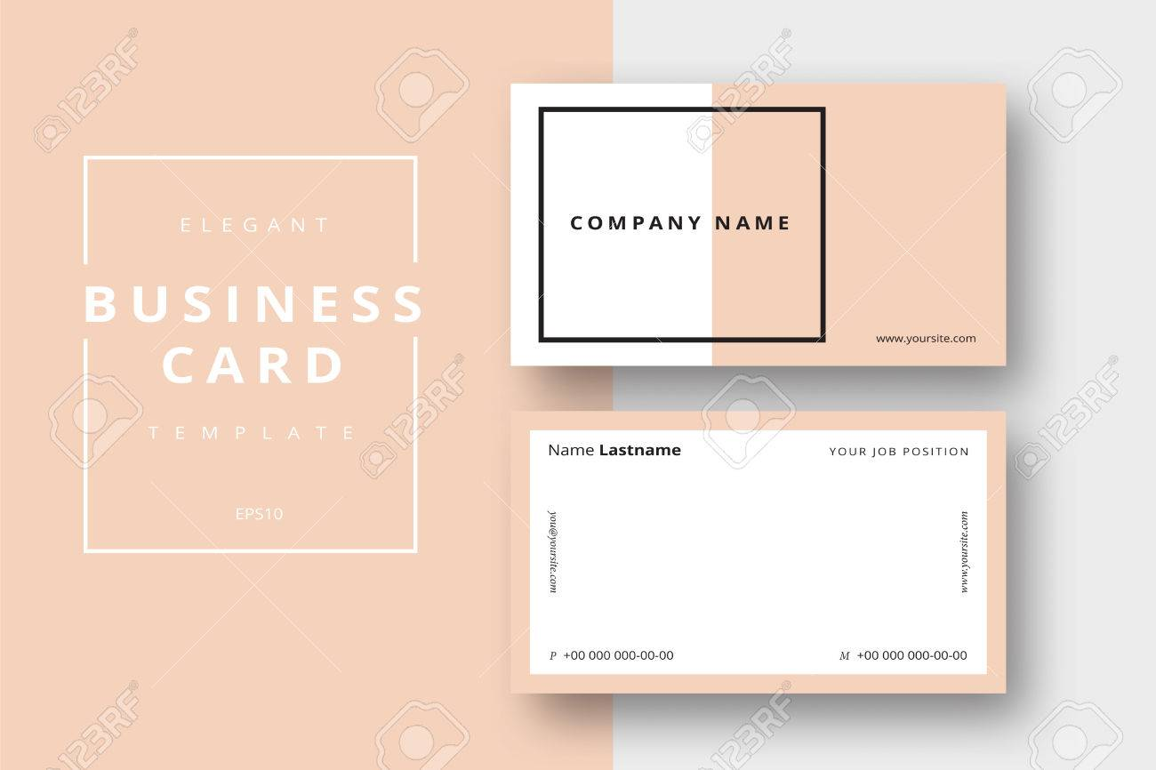 Trendy minimal abstract business card templates modern corporate trendy minimal abstract business card templates modern corporate stationary id layout with geometric lines reheart Image collections