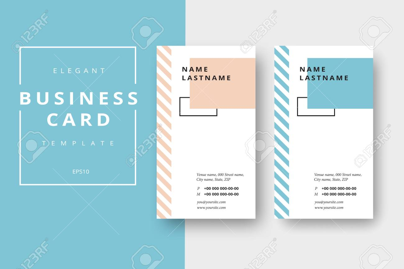Trendy Minimal Abstract Business Card Templates. Modern Corporate ...