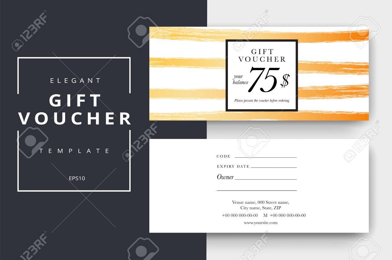 Trendy Abstract Gift Voucher Card Templates Modern Discount