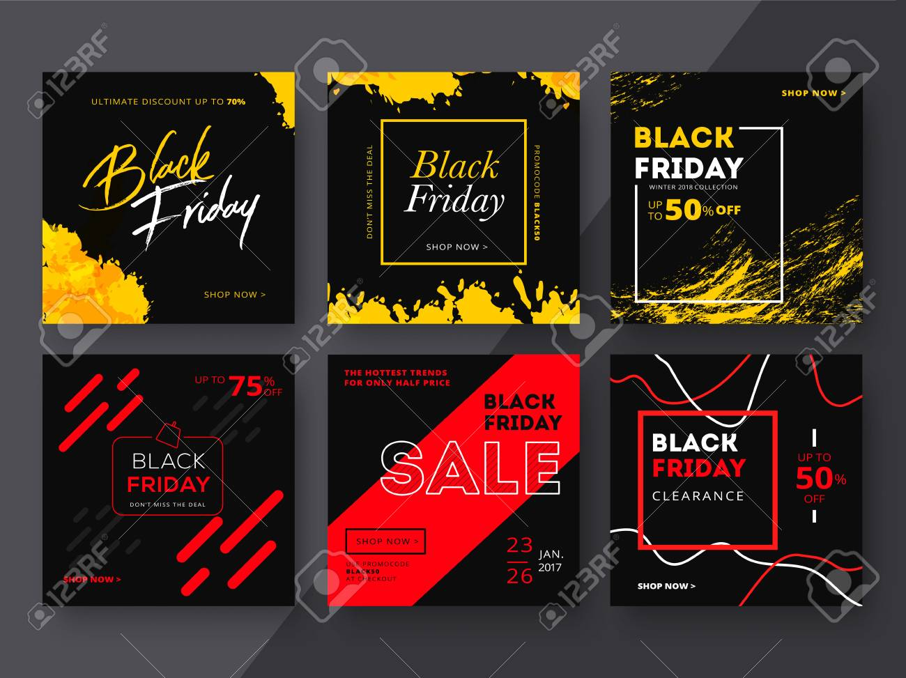 Modern Promotion Square Web Banner For Social Media Mobile Apps Royalty Free Cliparts Vectors And Stock Illustration Image 88596436