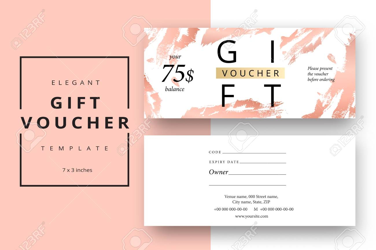 trendy abstract gift voucher card templates modern discount