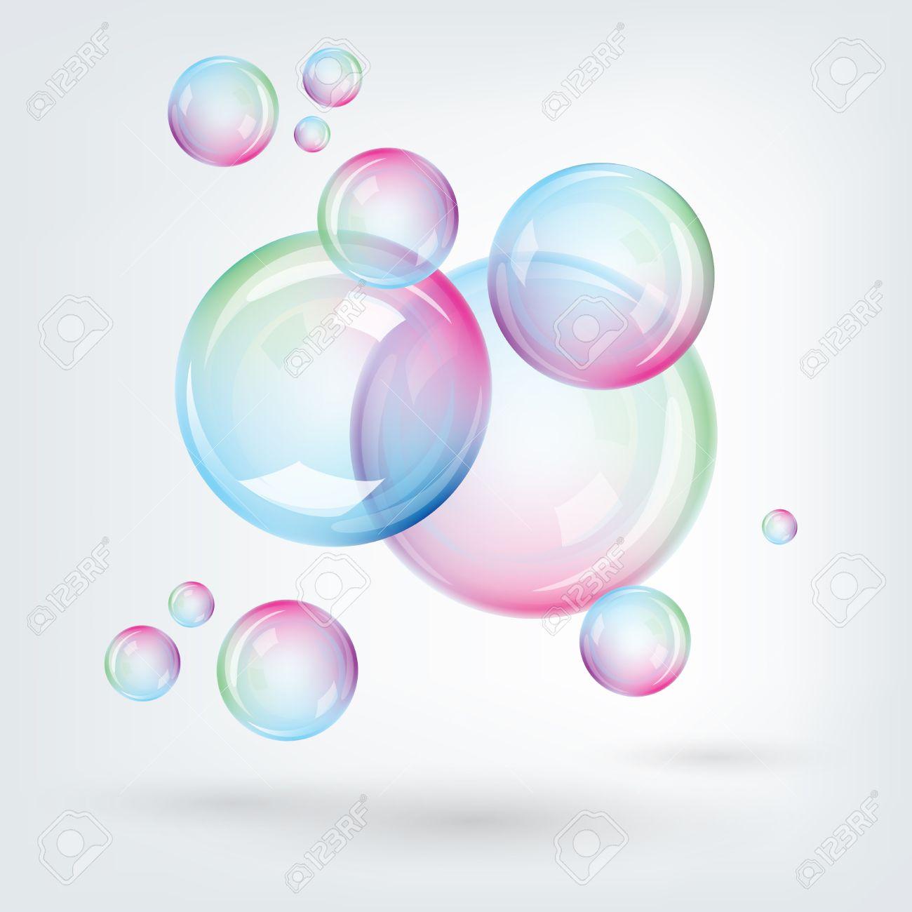 虹の多色のイラストのシャボン玉のイラスト素材ベクタ Image 25205839