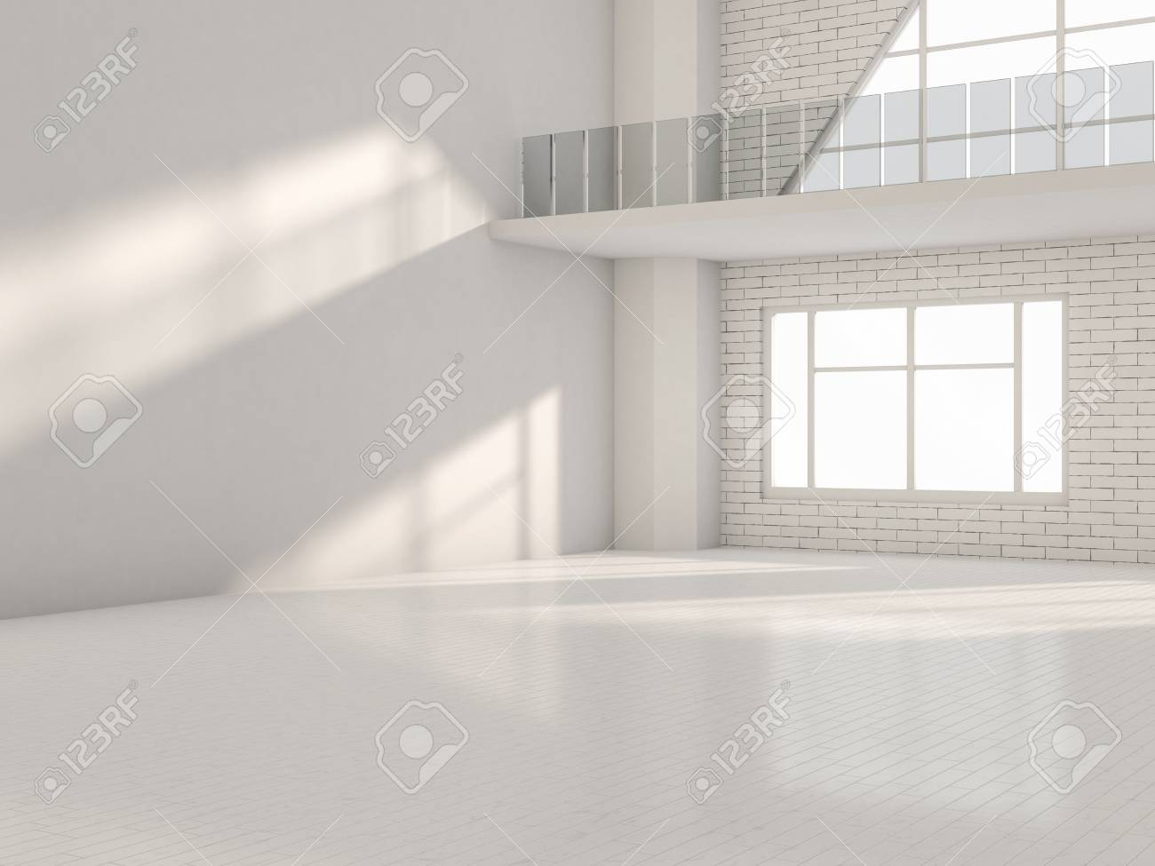 abstract modern architecture background empty white open space rh 123rf com