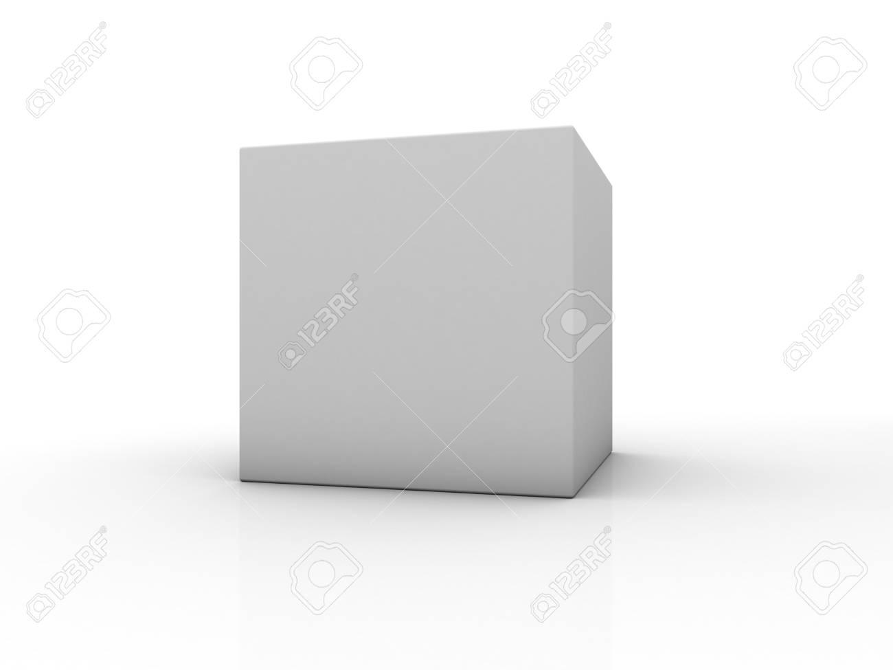 Cuadro En Blanco Sobre Fondo Blanco Con La Reflexion Representacion