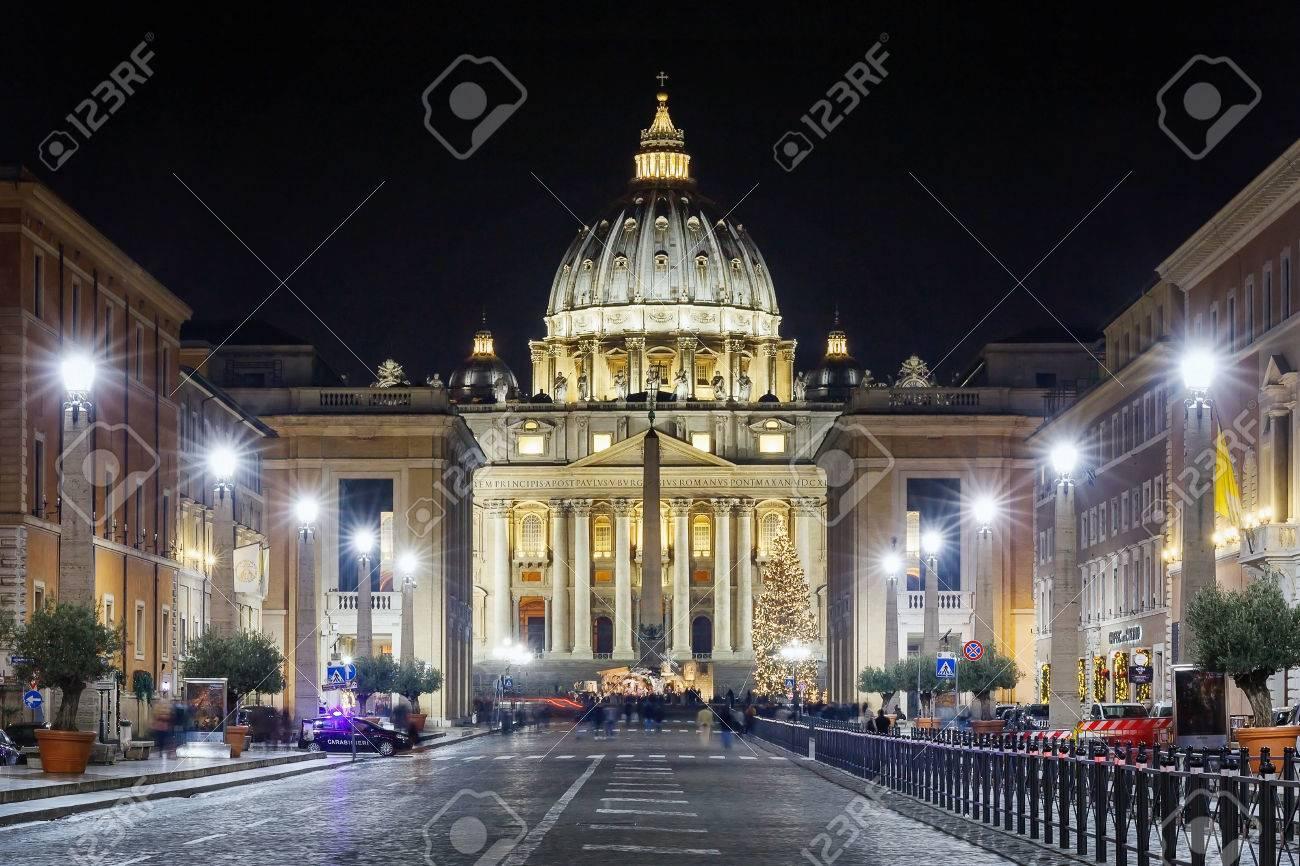 Rom, Italien - 1. Januar 2017: Via Della Conciliazione, Die Straße ...