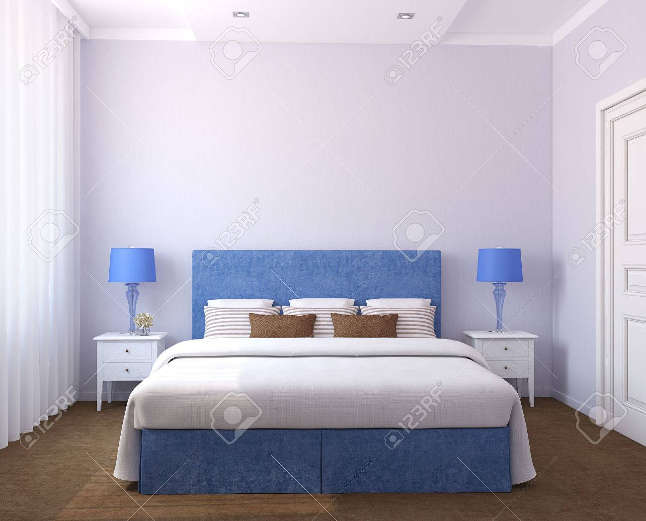 Beautiful bedroom interiors - Beautiful Bedroom Interior 3d Render Photos On The Wall Was Made By Me