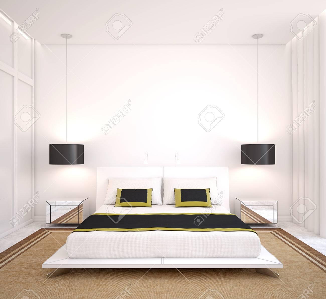modern bedroom interior 3d render stock photo 40032210
