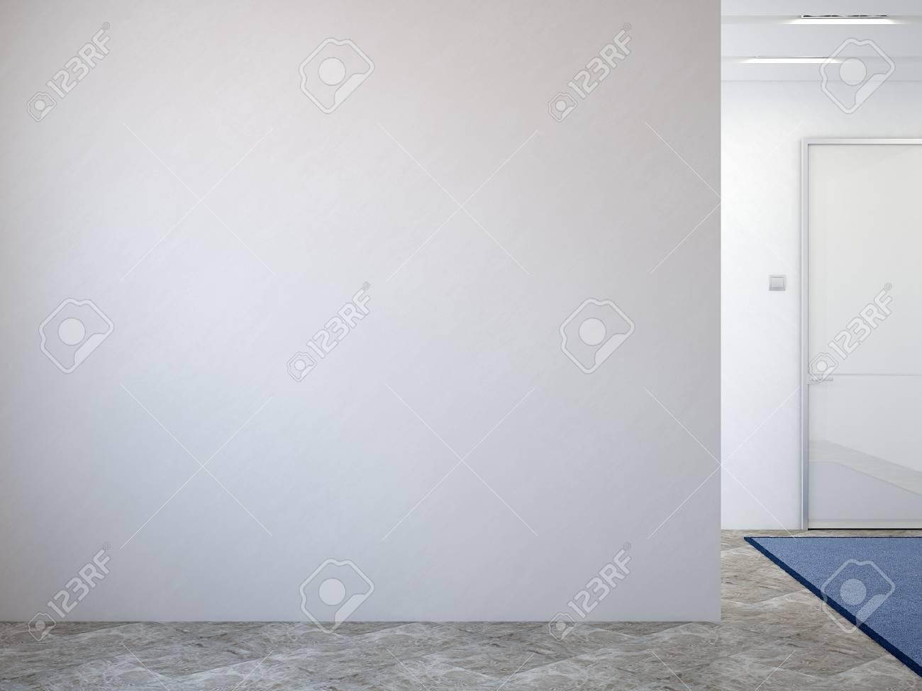 Intérieur Du Couloir Moderne. 3d Render. Banque D\'Images Et Photos ...