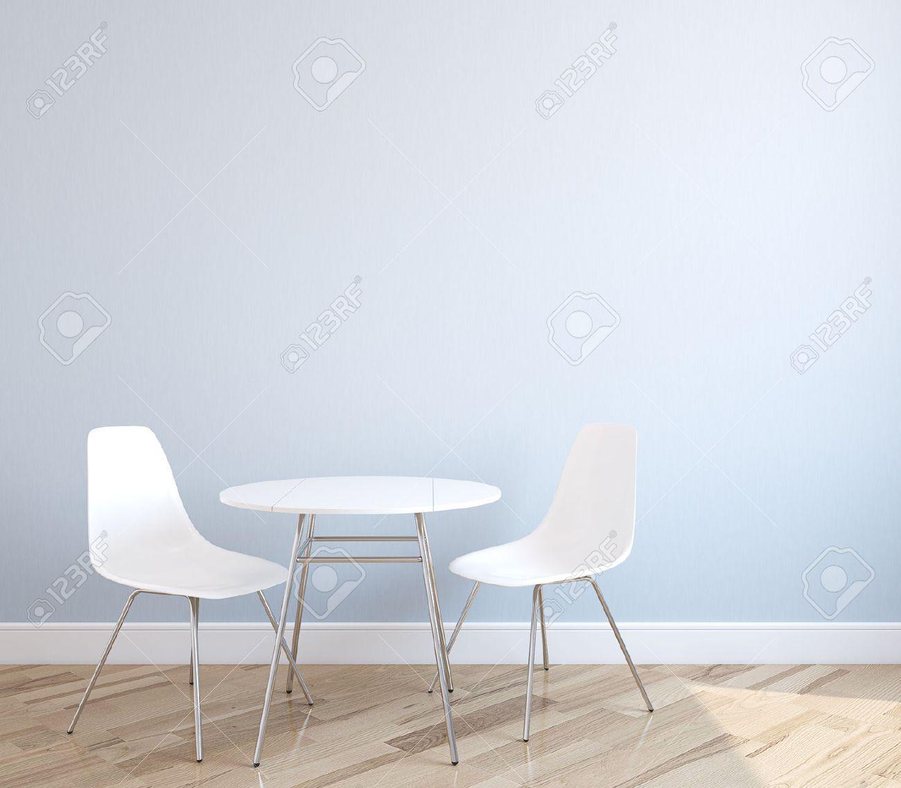Unglaublich Weisse Stühle Galerie Von Interieur Mit Tisch Und Zwei Weiße Stühle