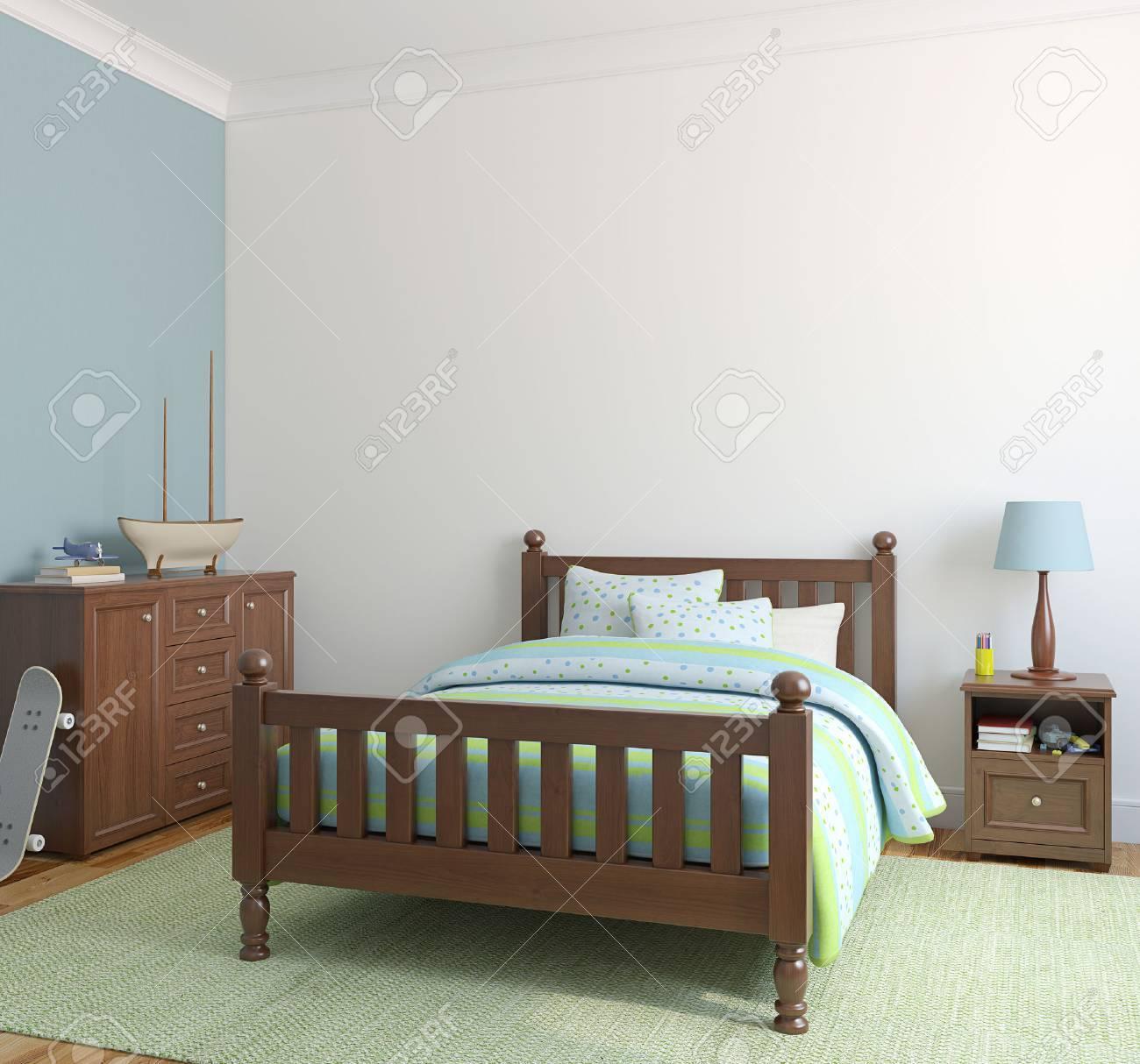 Bedroom for boy. 3d render. - 45647664