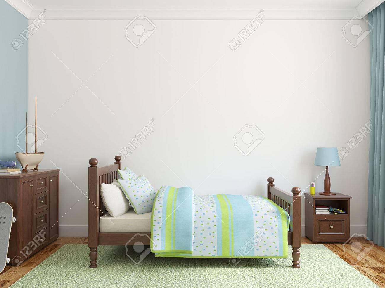 Bedroom for boy. 3d render. - 45647669