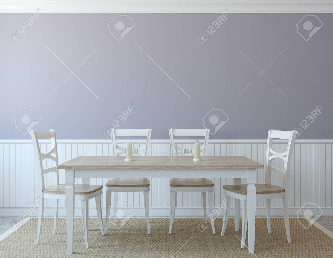 Dining-room interior. 3d render. - 47672323