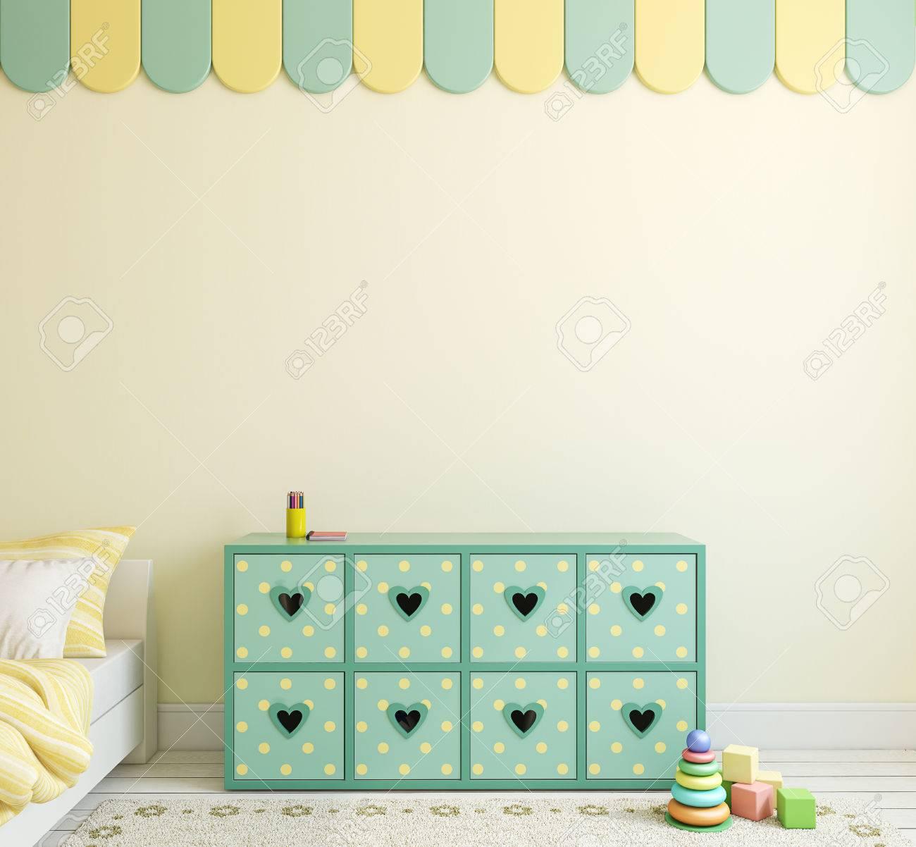 Playroom interior for boy. 3d render. - 53674060